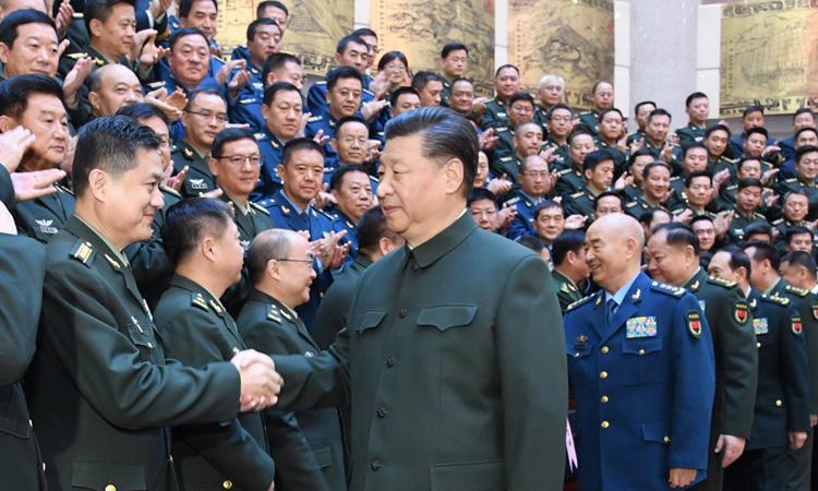 Ông Tập thăng hàm hơn 170 sĩ quan cấp cao - ảnh 1