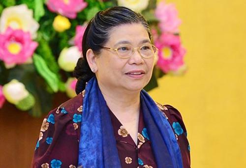 Phó chủ tịch Quốc hội Tòng Thị Phóng. Ảnh: Trung tâm báo chí Quốc hội