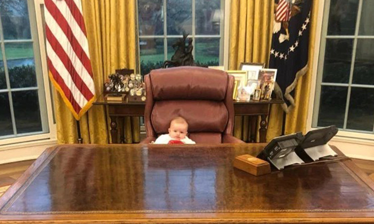 Cháu Trump ngồi ghế Tổng thống - VnExpress
