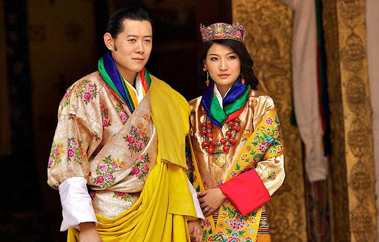 Nhà vua và Hoàng hậu Bhutan trong lễ cưới nă 2011. Ảnh: Queen Jetsun Pema/Instagram