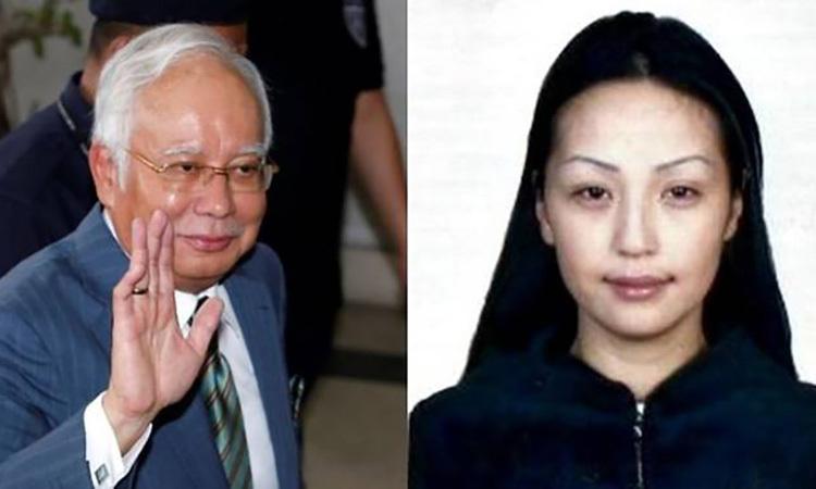 Cựu thủ tướng Malaysia Razak (trái) và công dân Mông Cổ Altantuya Shaariibuu. Ảnh: Reuters/AFP.
