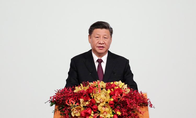 Chủ tịch Trung Quốc Tập Cận Bình phát biểu tại Macau hôm nay. Ảnh: Reuters.