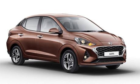 Hyundai Aura giống Grand i10 thế hệ mới ở thiết kế đầu xe. Ảnh: Hyundai