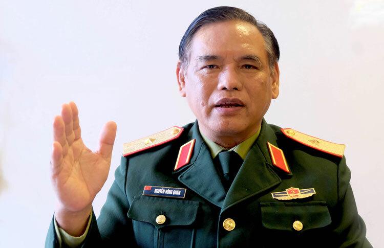 Thiếu tướng, GS.TS Nguyễn Hồng Quân, nguyên Phó Viện trưởng Viện Chiến lược Quốc phòng Việt Nam.Ảnh: Hoàng Thùy