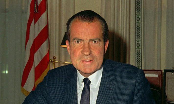Cố tổng thống Mỹ Richard Nixon tại Nhà Trắng hồi tháng 2/1969. Ảnh: AP.