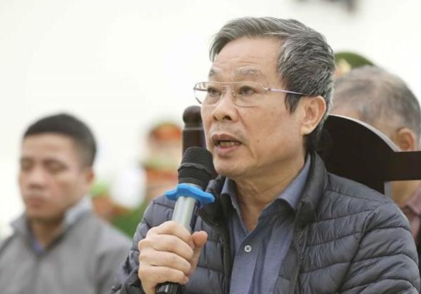 Cựu bộ trưởng Thông tin và Truyền thông Nguyễn Bắc Son bị VKS đề nghị hình phạt tử hình do nhận hối lộ 3 triệu USD. Ảnh: TTXVN