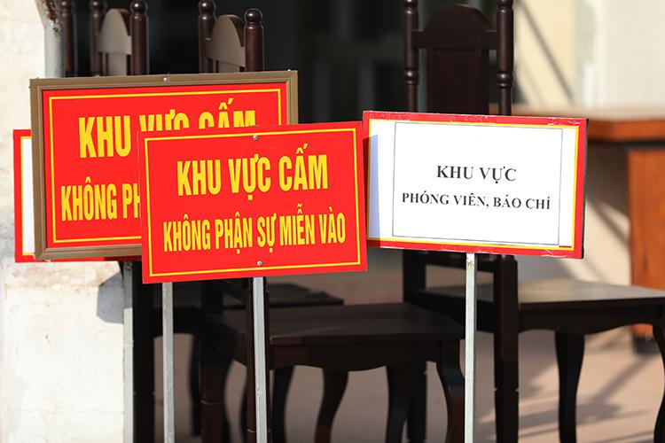 TAND tỉnh Điện Biên sẽ bố trí nhiều khu vực khác nhau cho các bộ phận đến dự phiên toà. Ảnh: Phạm Dự.