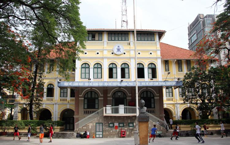 Trường THPT chuyên Trần Đại Nghĩa (quận 1, TP HCM). Ảnh: Mạnh Tùng.