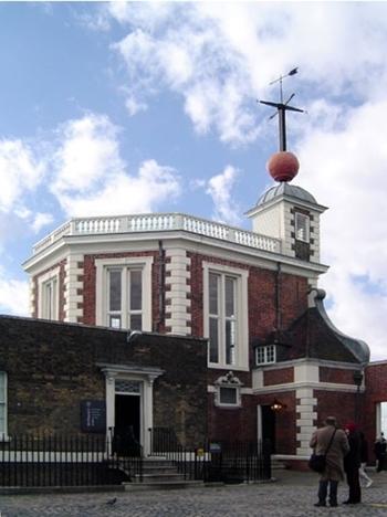Quả cầu thời gian tại Đài quan sát Hoàng gia Greenwich, Anh. Ảnh: Commons.