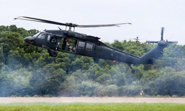 Trực thăng UH-60M của Đài Loan trong một đợt diễn tập năm 2018. Ảnh: UDN.