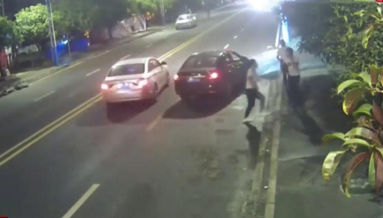 Vụ va chạm vào ngày 7/10 có liên quan tới Lợi. Ảnh: CCTV.