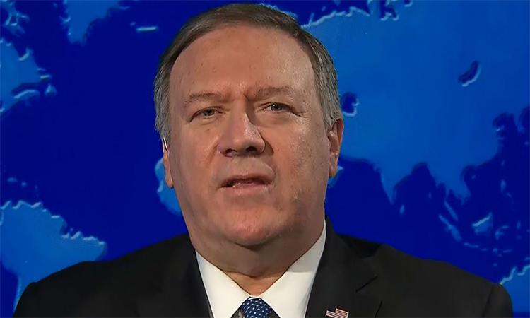Ngoại trưởng Mỹ Mike Pompeo nói về quyết định không kích giết chết tướng Iran trên kênh CNN ngày 3/1. Ảnh: CNN.