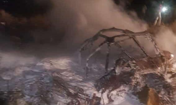Hiện trường vụ tai nạn vận tải cơ An-12 tối 2/1. Ảnh: Twitter/Salma Siddig.
