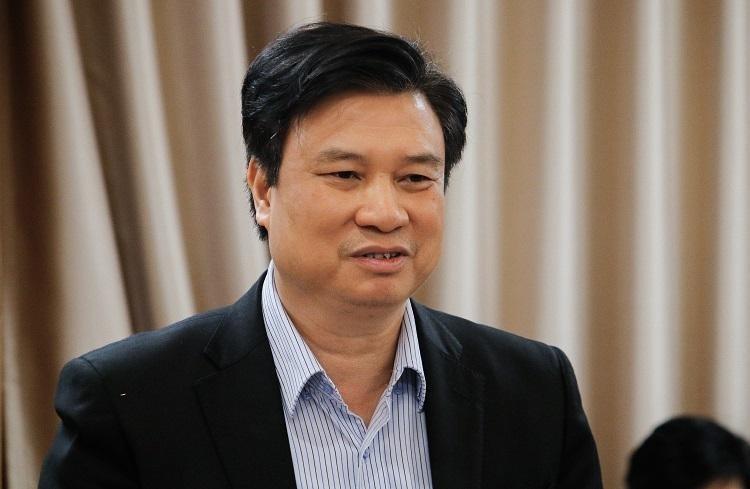 Thứ trưởng Nguyễn Hữu Độ khẳng định không có ngoại lệ cho sách của GS Hồ Ngọc Đại. Ảnh: Thanh Hằng