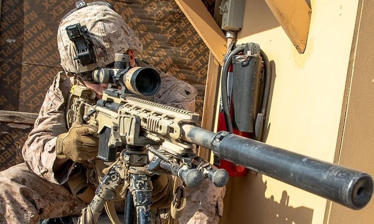 Lính Mỹ tại sứ quán Mỹ ở Iraq ngày 3/1. Ảnh: Reuters.
