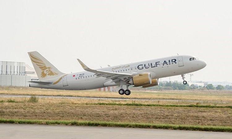 Một máy bay của Gulf Air, hãng hàng không quốc gia của Bahrain. Ảnh: Arabian Business.