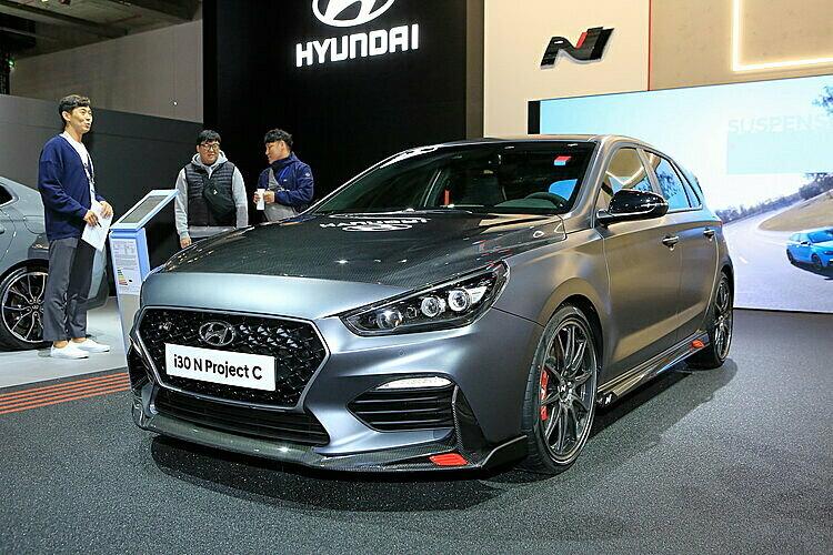 Mẫu hatchback thể thao Hyundai i30 N Project C tại triển lãm Frankfurt, Đức 2019. Ảnh: Carscoops