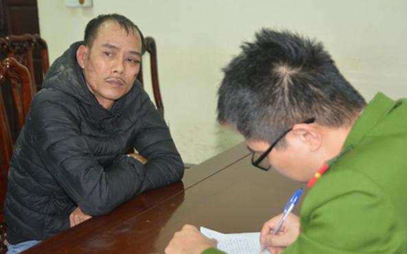 Trịnh Xuân Trường tại cơ quan công an. Ảnh: Minh Khôi.