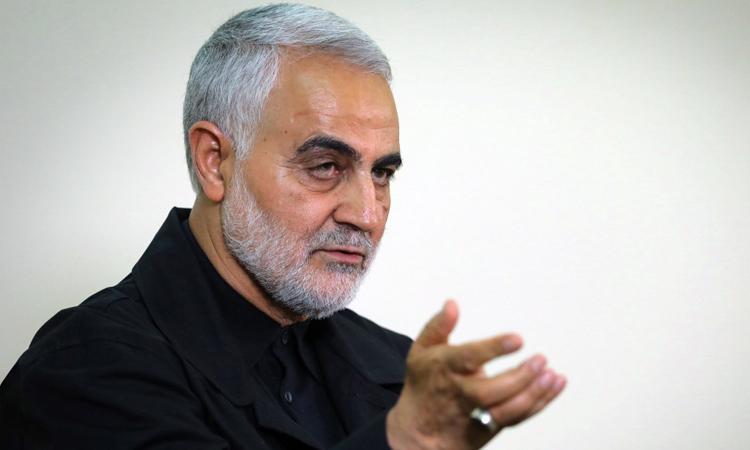 Thiếu tướng Iran Qassem Soleimani trả lời phỏng vấn tại thủ đô Tehran năm ngoái. Ảnh: AFP.