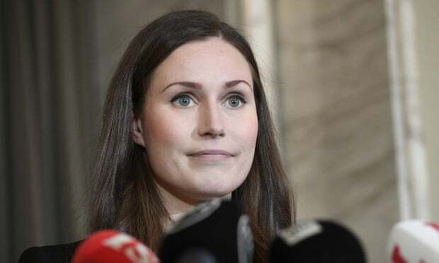 Thủ tướng Phần Lan Sanna Marin sau khi nhậm chức ngày 10/12 tại thủ đô Helsinki. Ảnh: AP