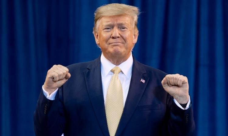 Tổng thống Trump tại Louisiana tháng 10/2019. Ảnh: AFP.