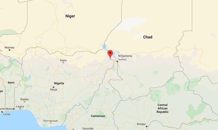 Vị trí vụ đánh bom ở bang Borno, Nigeria hôm 6/1. Đồ họa: Google.