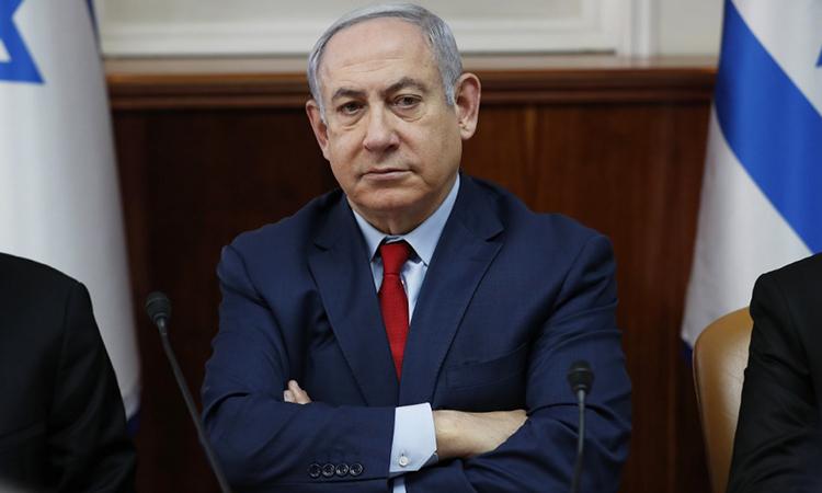 Thủ tướng Benjamin Netanyahu trong cuộc họp nội các ngày 5/1 tại Jerusalem. Ảnh: AFP.