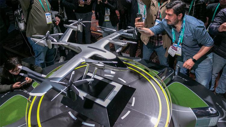 Mô hình taxi bay của Hyundai ra mắt ở CES 2020. Ảnh: AFP
