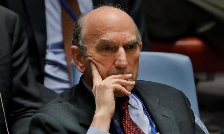 Đặc phái viên Mỹ phụ trách vấn đề Venezuela Elliott Abrams trong một cuộc họp ở New York hôm 28/2/2019. Ảnh: Reuters.