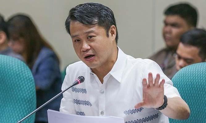 Sherwin Gatchalian tại một cuộc họp của Thượng viện Philippines. Ảnh: Philstar.