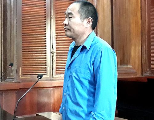 Bị cáo Ren Dao Jun tại tòa hôm nay. Ảnh: Hải Duyên.