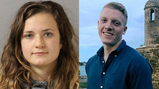 Kristan Parris (trái) và bạn trai. Ảnh: MNPD.