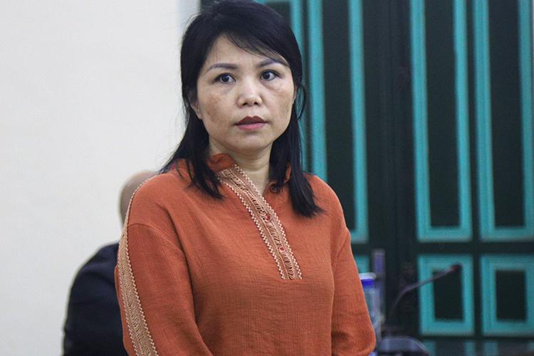 Bị cáo Nguyễn Thị Vững. Ảnh: Phạm Dự.