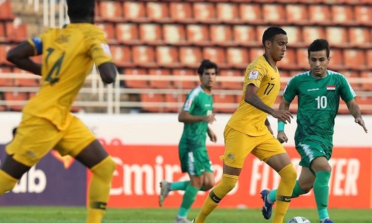 Australia và Iraq bất bại trong trận mở màn U23 châu Á. Ảnh: AFC.