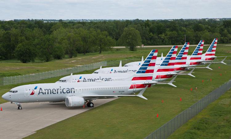 Các máy bay của hãng hàng không Mỹ American Airlines tại sân bay ở Tulsa, bang Oklahoma tháng 5/2019. Ảnh: Reuters.