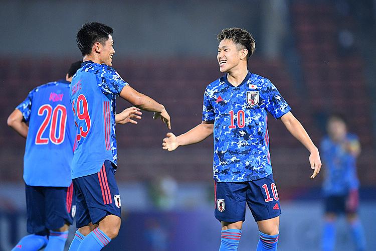 Meshino (số 10) tỏa sáng nhưng không mang về điểm số cho Nhật Bản. Ảnh: AFC.