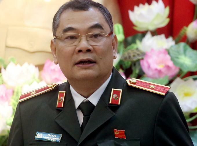 Thiếu tướng Tô Ân Xô, Chánh văn phòng Bộ Công an. Ảnh: Bá Đô.