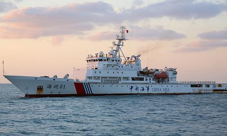 Tàu Hải sự 01 gần Thượng Hải hồi đầu năm 2019. Ảnh: FleetMon.