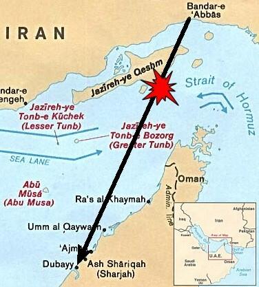 Đường bay dự kiến và vị trí chiếc A300 bị bắn hạ. Đồ họa: Wikipedia.
