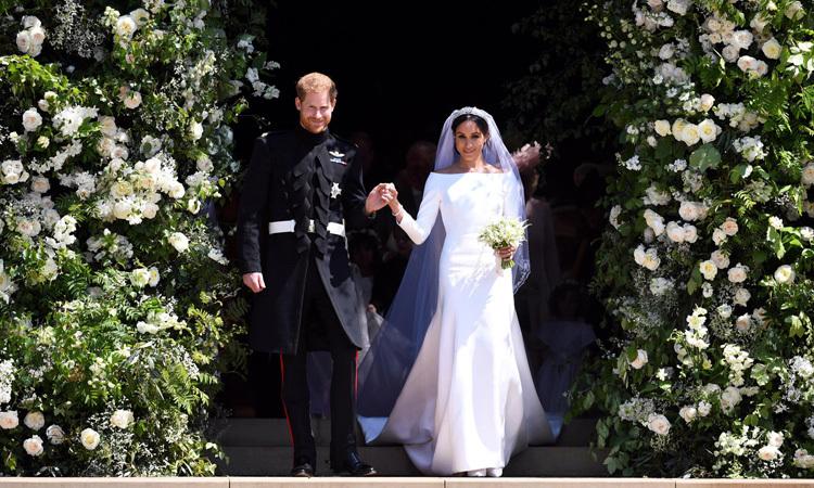 Harry và Meghan trong lễ cưới ở lâu đài Windsor ngày 19/5/2018. Ảnh: Reuters.