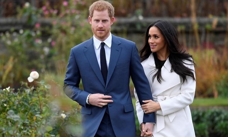 Harry - Meghan tại Cung điện Kensington, London, tháng 11/2017. Ảnh: Reuters.