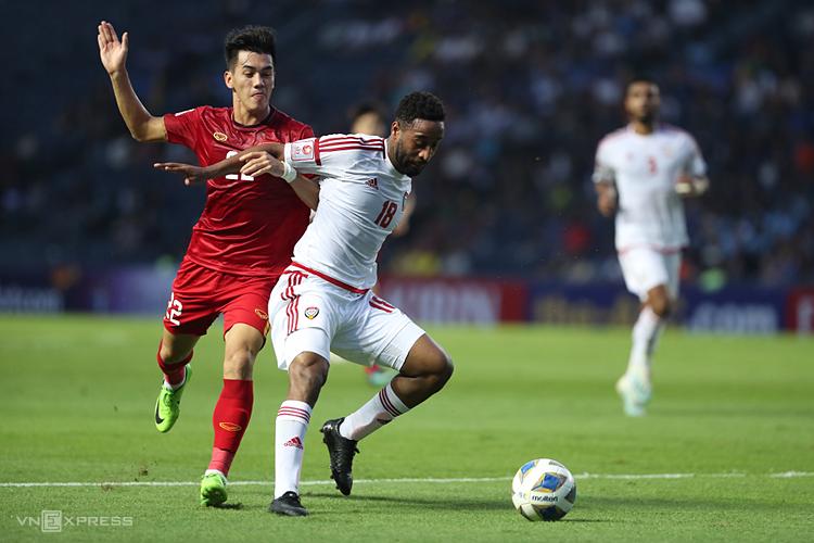 Việt Nam hoà UAE 0-0 trong trận ra quân giải U23 châu Á ngày 10/1. Ảnh: Đức Đồng.