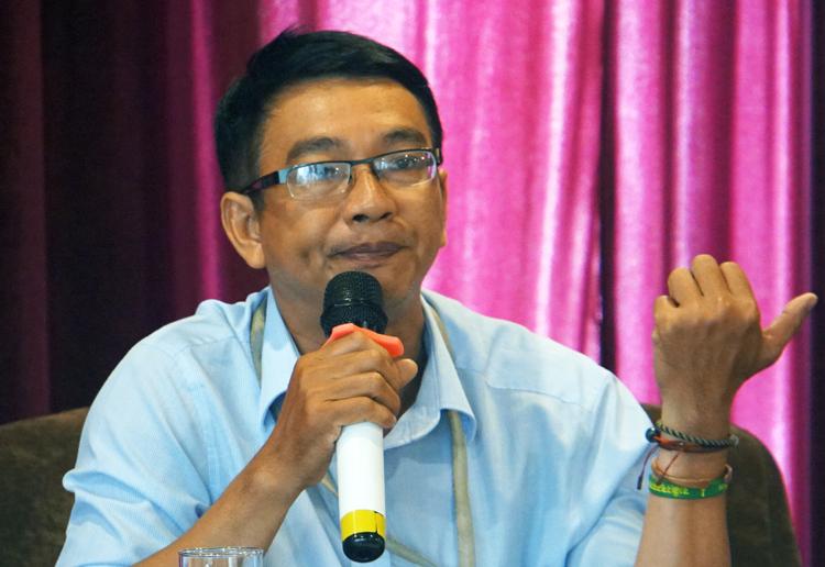 Ông Nguyễn Viết Đăng Du tại toạ đàm ngày 11/1. Ảnh: Mạnh Tùng.