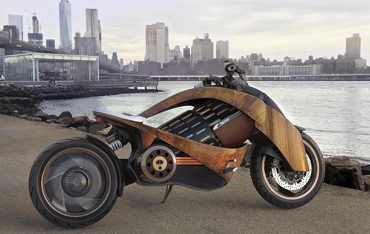 Thiết kế xe điện như một mẫu môtô phân khối lớn.