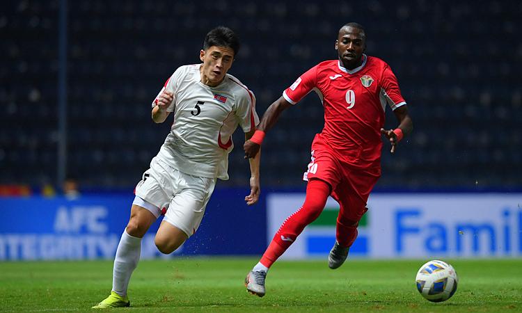 Bani Atieh (phải) ghi bàn trong cả bốn trận chính thức gần nhất của U23 Jordan. Ảnh: AFC.