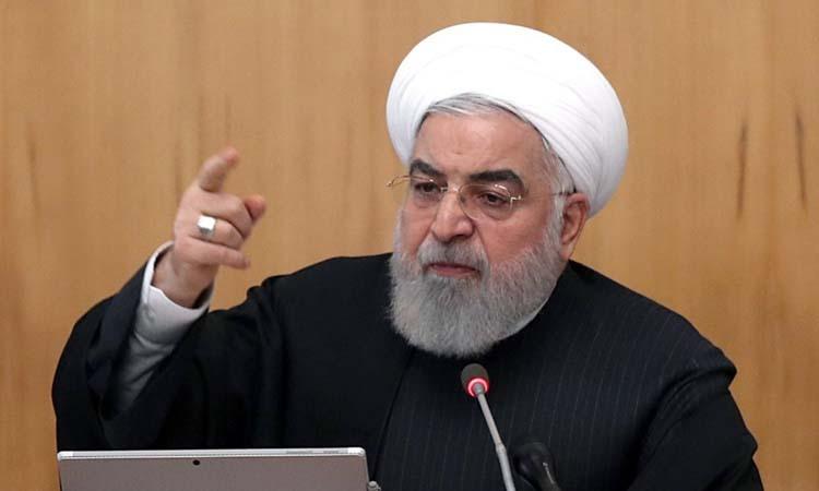 Tổng thống Iran Hassan Rouhani chủ trì cuộc họp nội các ở Tehran hôm nay. Ảnh: AFP.