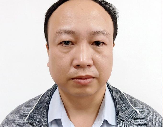 Nguyễn Đức Toàn Phó Giám đốc Nhà máy ôtô Veam tại cơ quan điều tra. Ảnh. Bộ Công an
