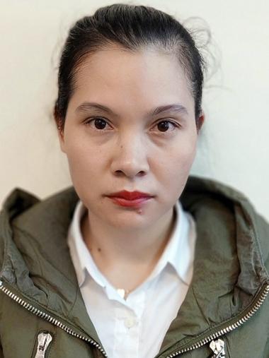 Trần Thị Thanh Tâm tại cơ quan điều tra. Ảnh: Bộ Công an