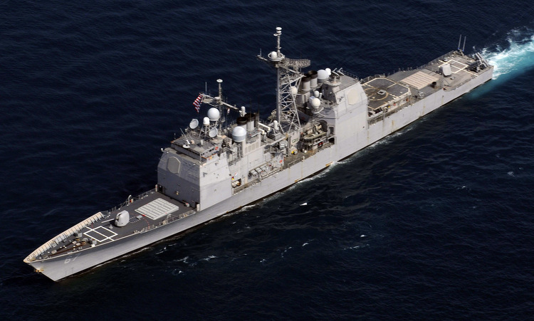 Tàu tuần dương USS Shiloh trên Thái Bình Dương năm 2010. Ảnh: US Navy.