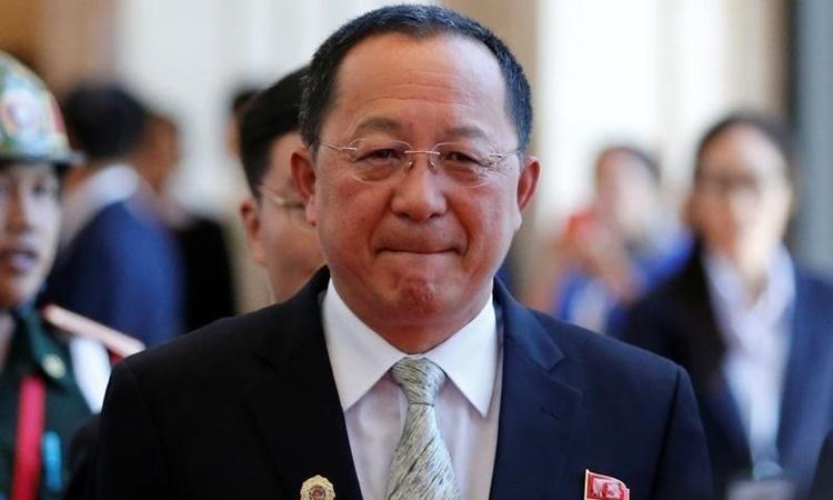 Ngoại trưởng Triều Tiên Ri Yong-ho tại Lào hồi năm 2016. Ảnh: Reuters.
